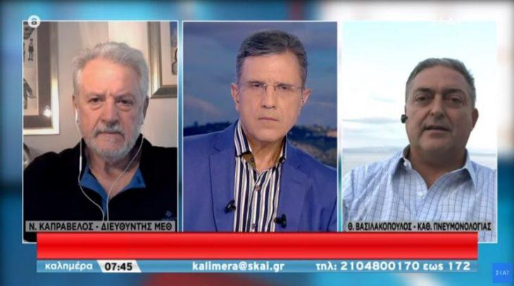 Καμπραβέλος – Βασιλακόπουλος: Τσακώθηκαν σε ζωντανή μετάδοση