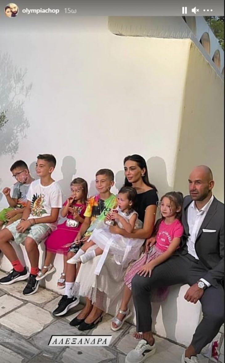 Σπανούλης - Χοψονίδου: Βαφτίστηκε και το έκτο τους παιδί