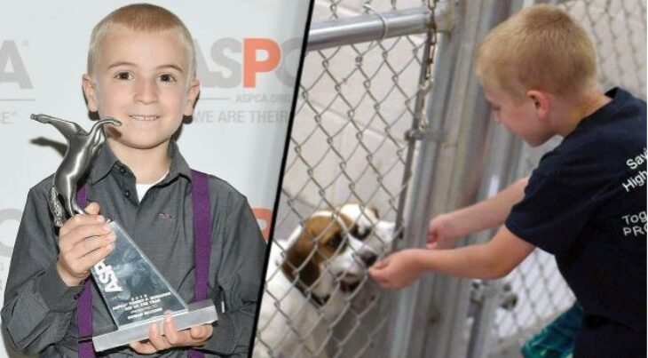 Αγοράκι 7 ετών έσωσε πάνω από 1.400 Σκυλιά και ανακηρύχτηκε ως «Παιδί της Χρονιάς»