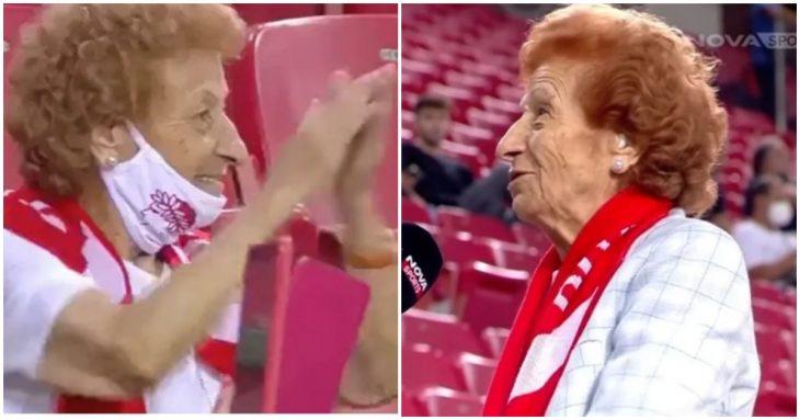 Οπαδός Ολυμπιακού: 92χρονη γυναίκα εμβολιάστηκε για να πηγαίνει στο Στάδιο Καραισκάκη