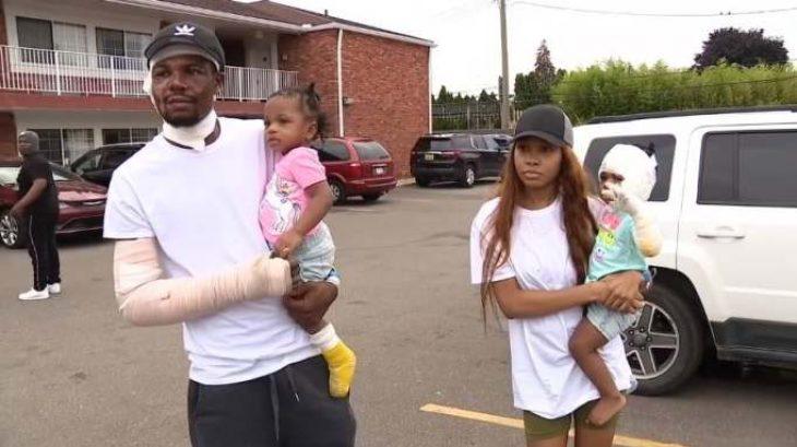 Πατέρας ρίχτηκε στις φλόγες για να σώσει τα δίδυμα κοριτσάκια του