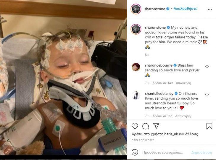 Σάρον Στόουν: Έφυγε από τη ζωή ο 11μηνών ανιψιός της