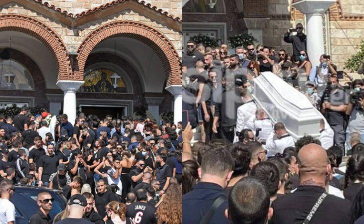 Ελένη Φουρέιρα: Συντετριμμένη στα λευκά στην κηδεία του Mad Clip