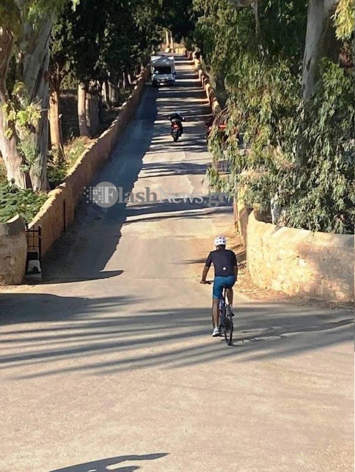 Ποδηλατάδα ο Κυριάκος Μητσοτάκης: Έκανε βόλτα  στο Ακρωτήρι Χανίων
